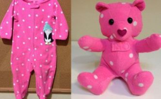 DIY Keepsake Memory Teddy Bear from Outgrown Baby Clothes