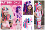 Crochet Unicorn Pony Hat & Leggings & Tail Pattern Pack