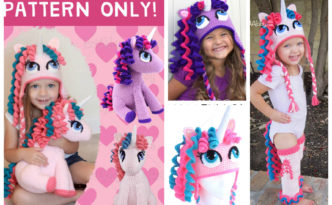Crochet Unicorn Pony Hat & Leggings & Tail Pattern Pack