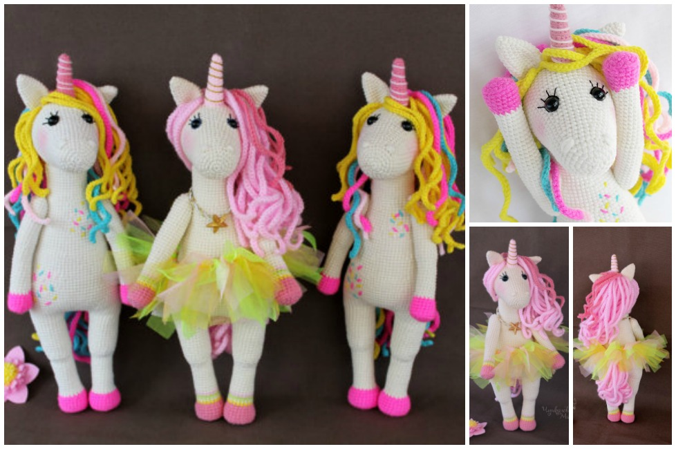Super Sweet Crochet Unicorn Toy Pattern