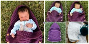 Crochet Newborn Sleep Sack - Free Pattern