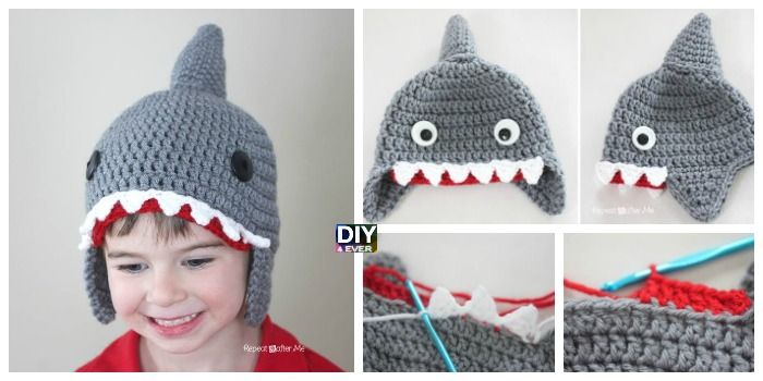 Cute Crochet Shark Hat Free Pattern