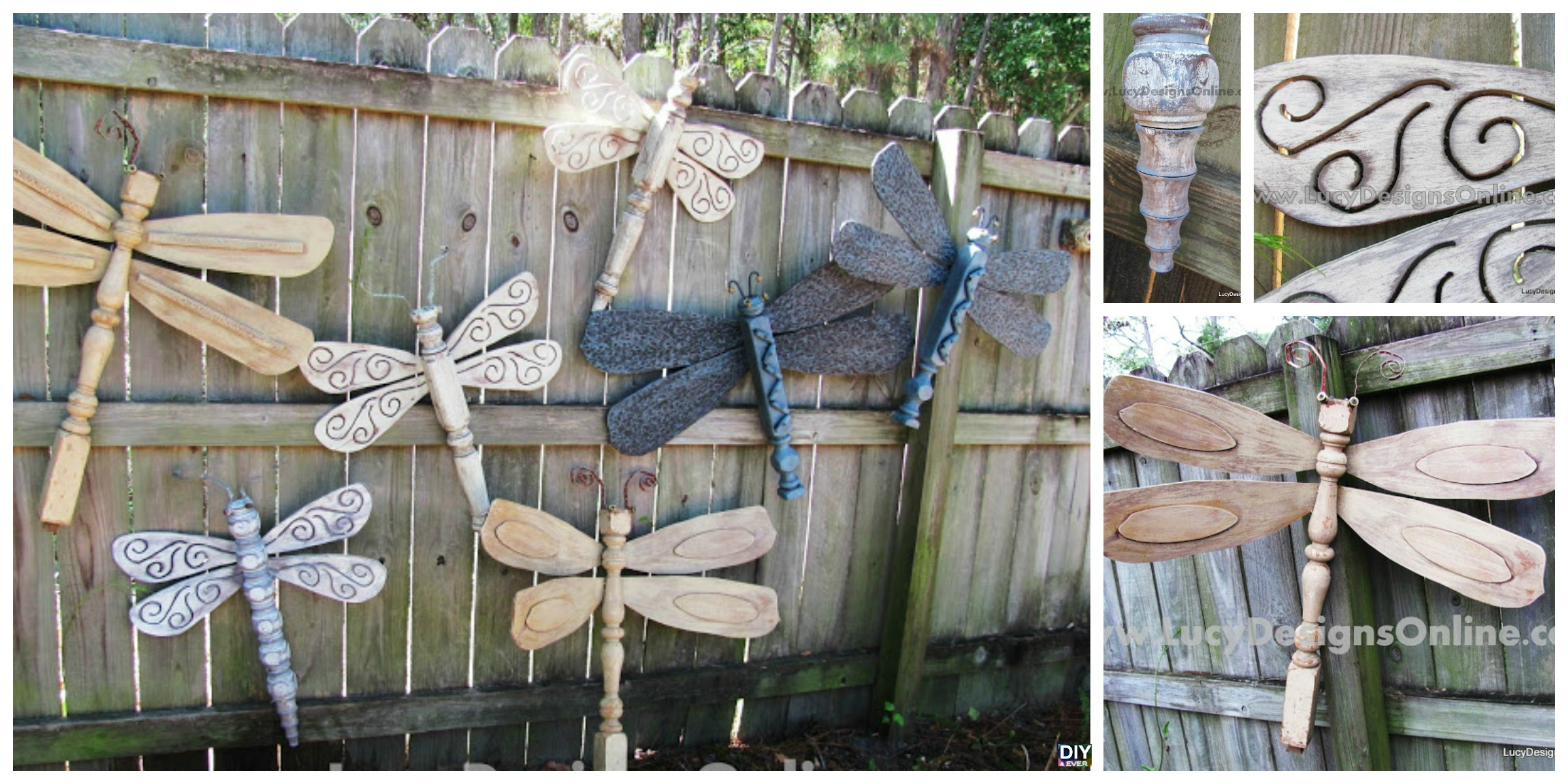 DIY Table Leg Dragonflies – Wall Art