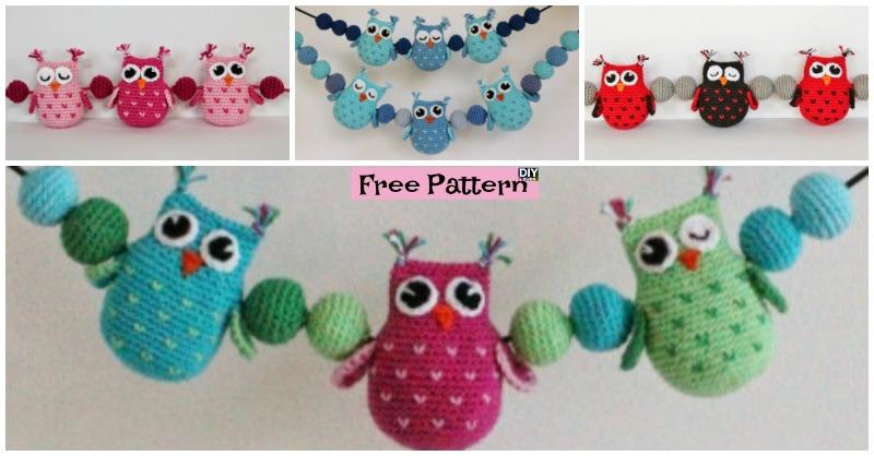 Crochet Owls & Balls Decoration – Free Pattern