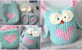 Valentine Heart Crochet Owl - Free Pattern