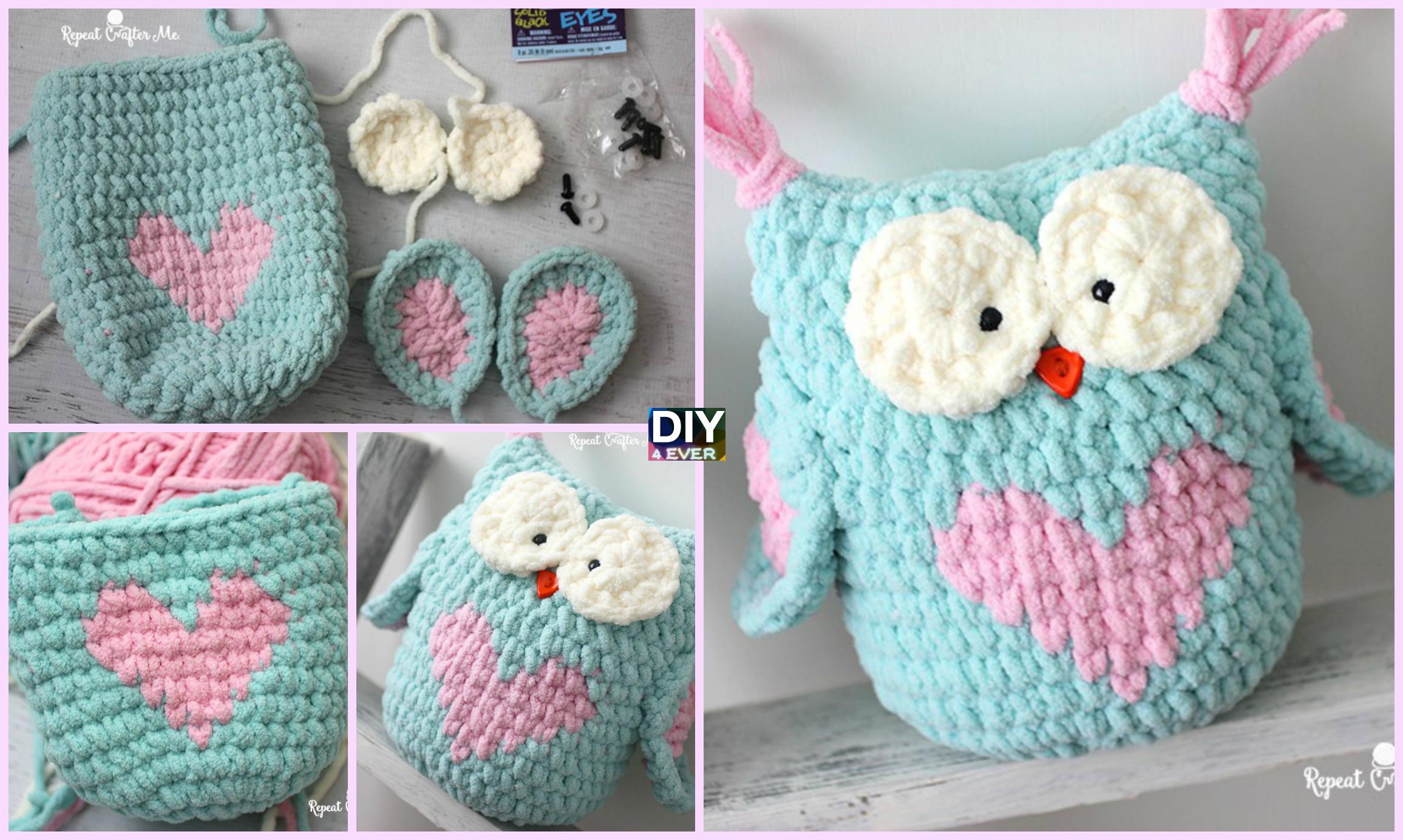 Valentine Heart Crochet Owl – Free Pattern