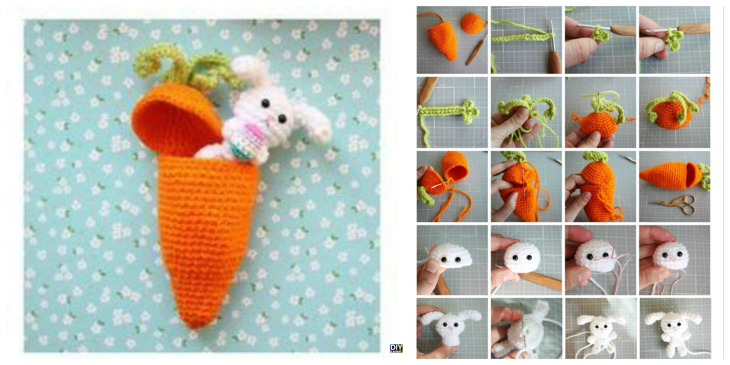 Carrot Surprise Easter Bunny Crochet  Free Pattern
