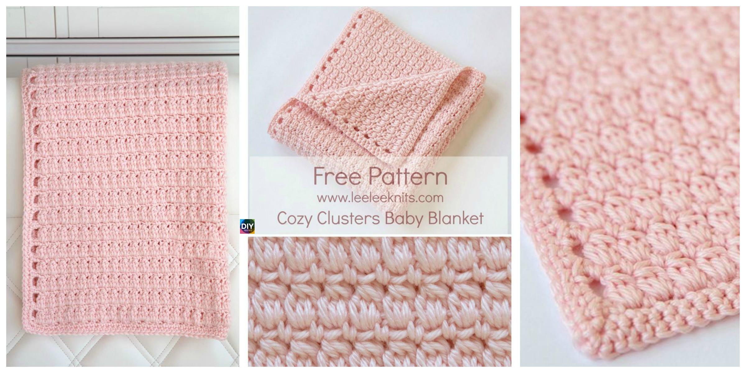 Cozy Clusters Crochet Baby Blanket – Free Pattern