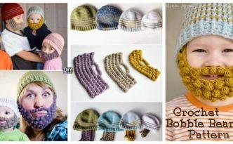 diy4ever-Crochet-Bobble-Beard-Beanie-Free-Pattern