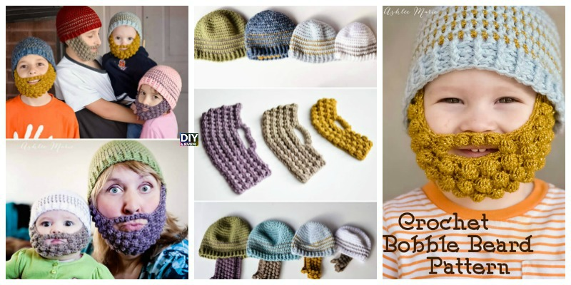 Crochet Bobble Beard Beanie – Free Pattern