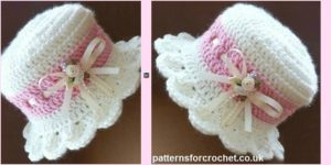diy4ever- Crochet Brimmed Baby Hat - Free Pattern