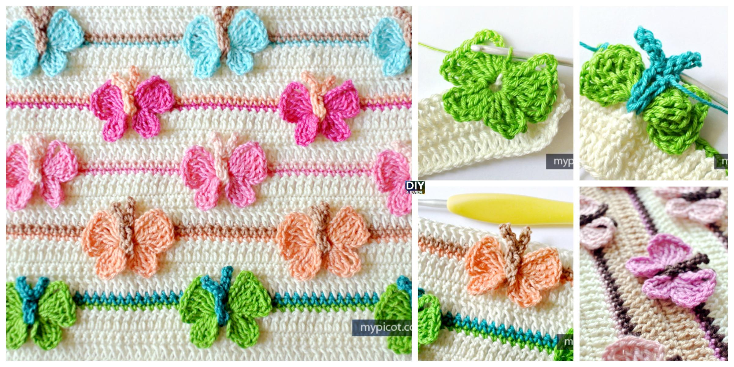 Crochet Butterfly Baby Blanket – Free Pattern
