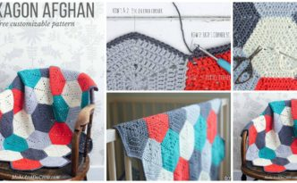 diy4ever- Crochet Hexagon Afghan - Free Pattern