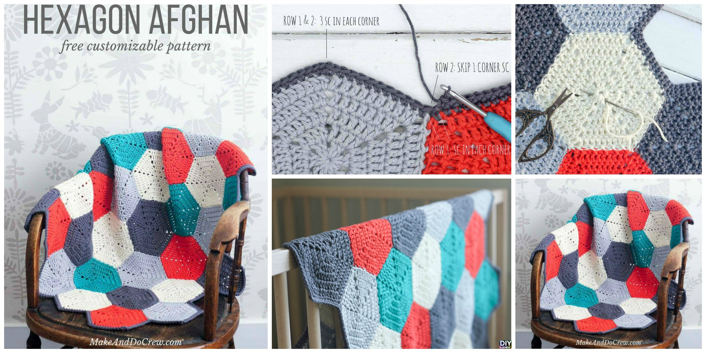 Crochet Hexagon Afghan – Free Pattern
