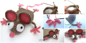 diy4ever- Crochet Mouse Bookmark - Free Pattern