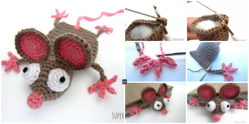Crochet Mouse Bookmark –  Free Pattern