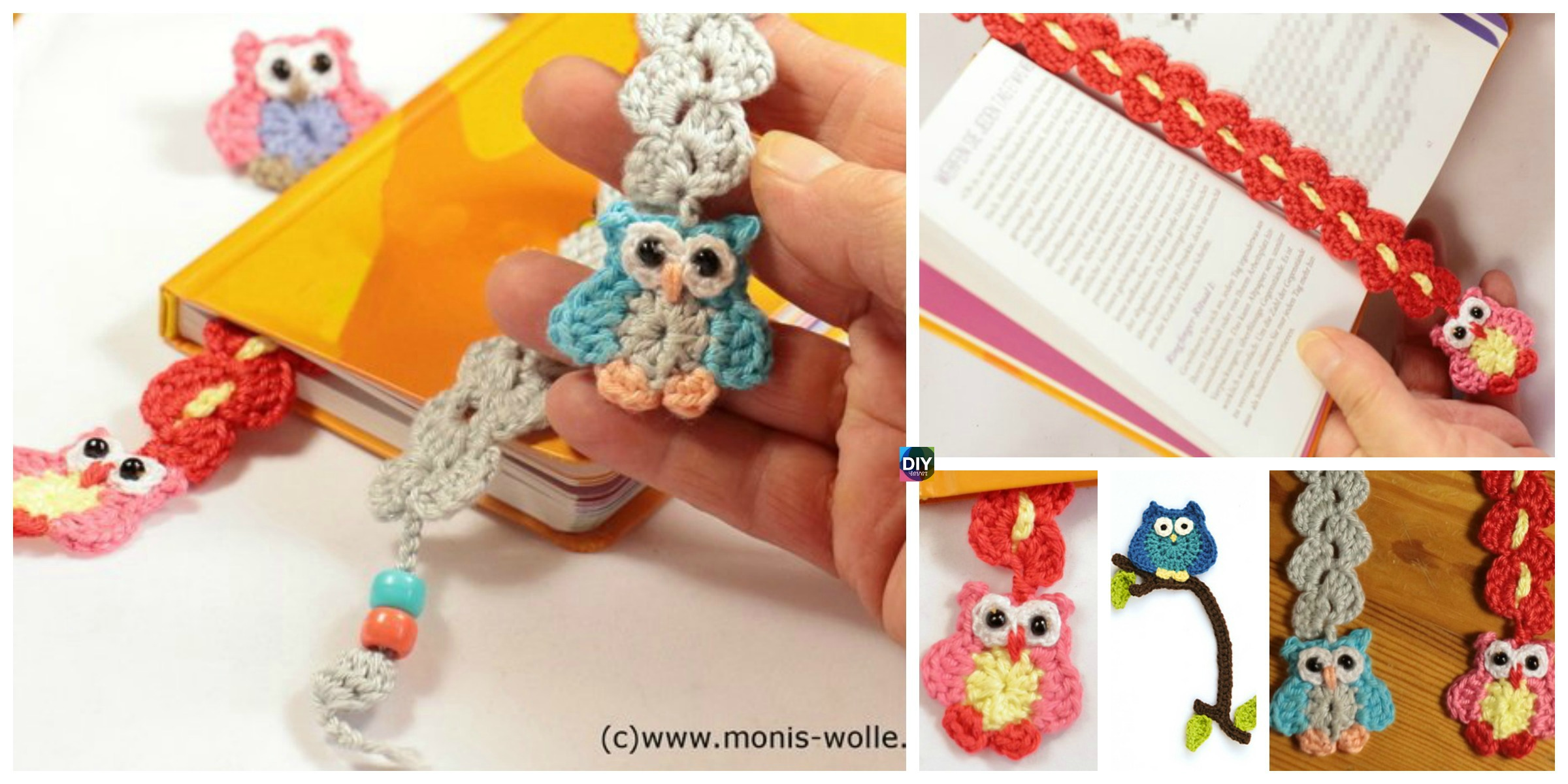 Super Cute Crochet Owl Bookmark Patterns