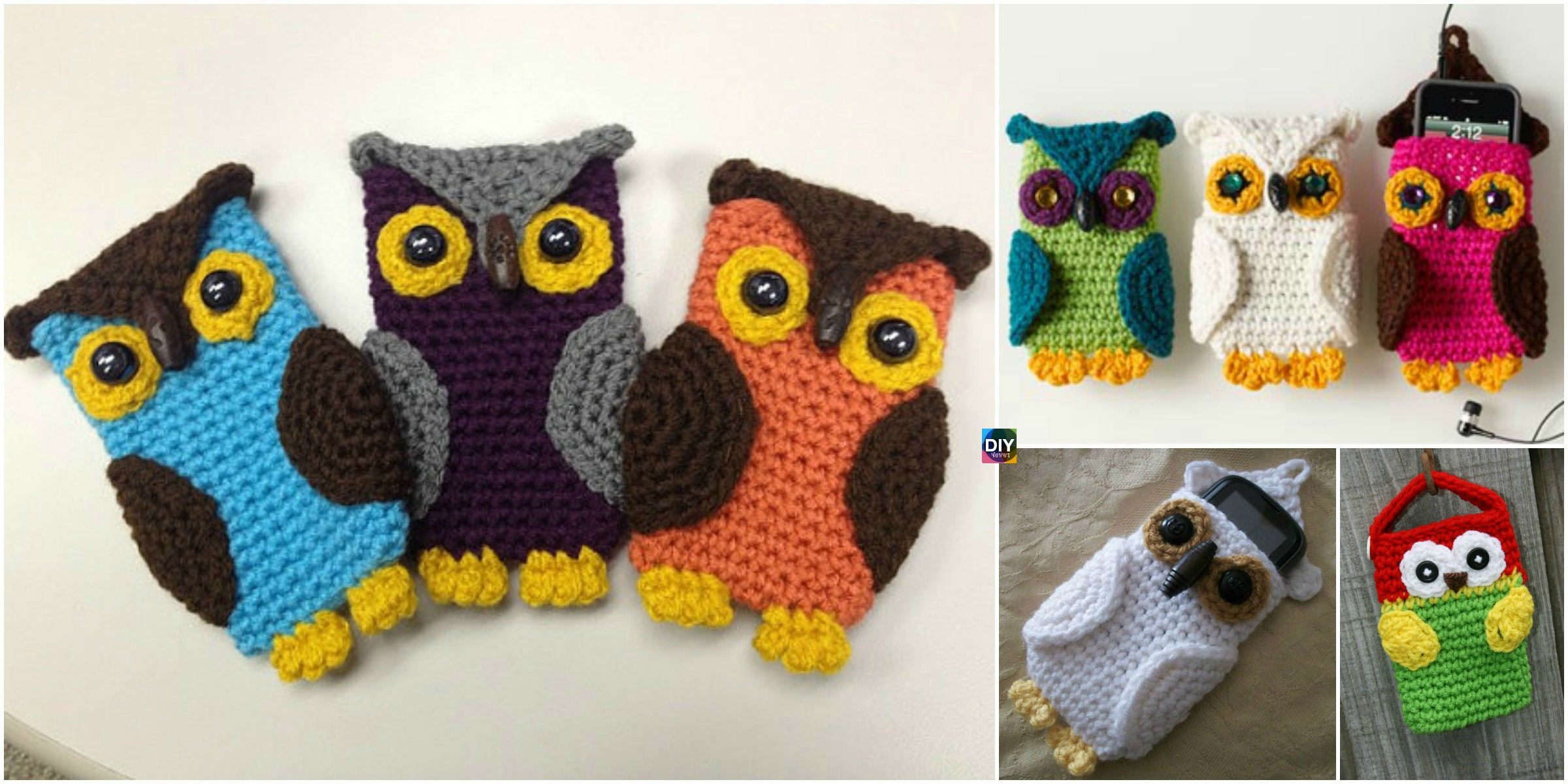 Crochet Owl Cell Phone Cozy -Free Pattern