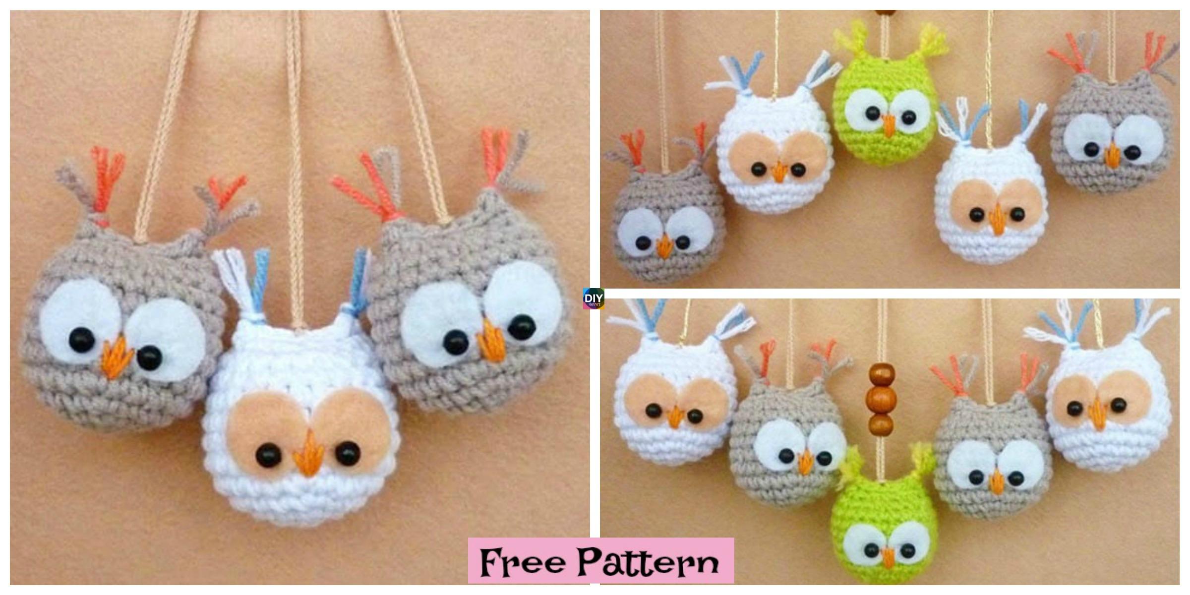 Crochet Owl Keychain – Free Pattern