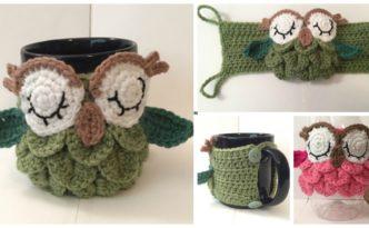 diy4ever- Crochet Owl Mug Cozy - Free Pattern