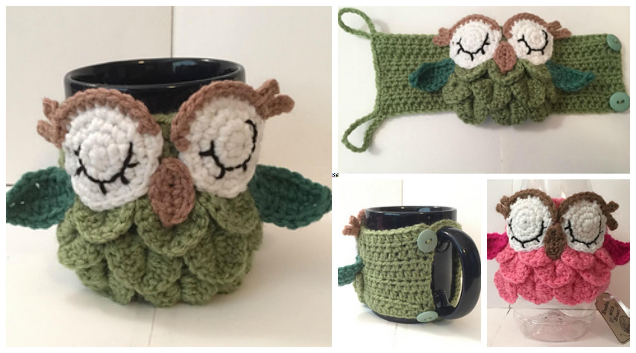 Crochet Owl Mug Cozy – Free Pattern