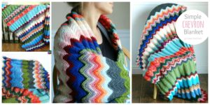 diy4ever- Crochet Simple Chevron Blanket - Free Pattern