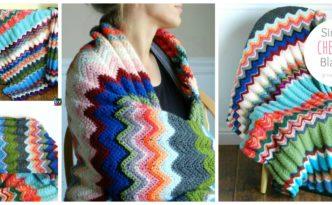 diy4ever- Crochet Simple Chevron Blanket - Free Pattern
