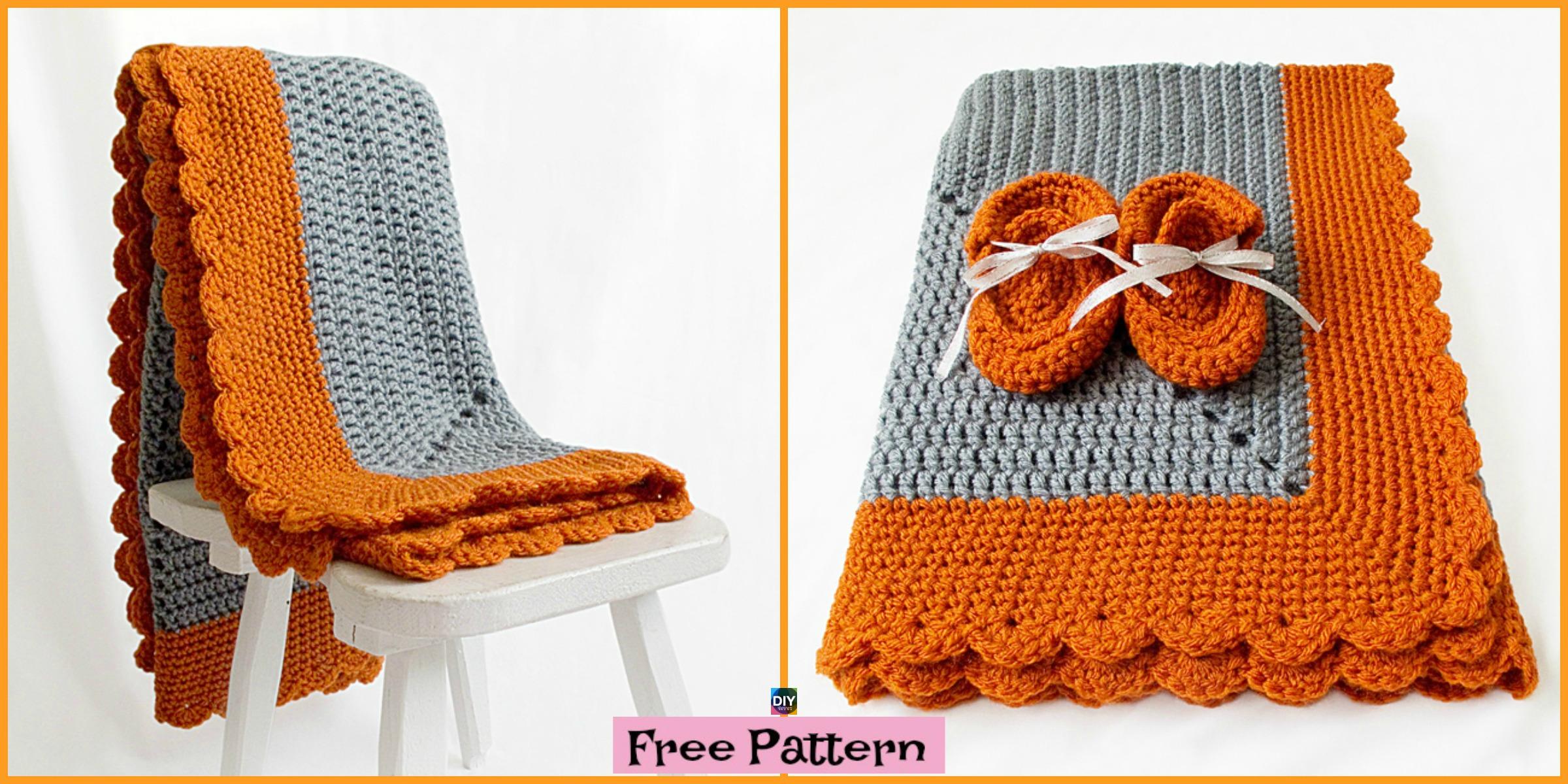 Crochet  Starburst Baby Blanket – Free Pattern