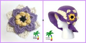 diy4ever- Crochet Summer Joy Sun Hat - Free Patter
