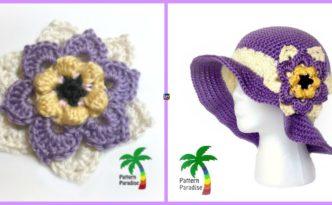 diy4ever- Crochet Summer Joy Sun Hat - Free Patter