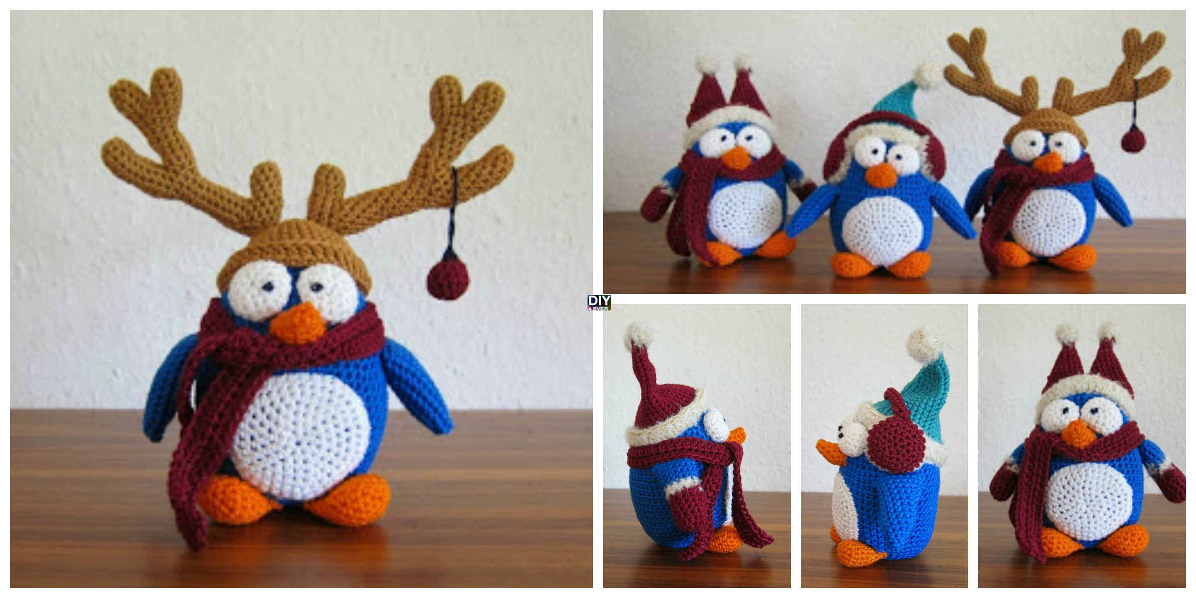 Adorable Crochet Winter Penguin  – Free Pattern