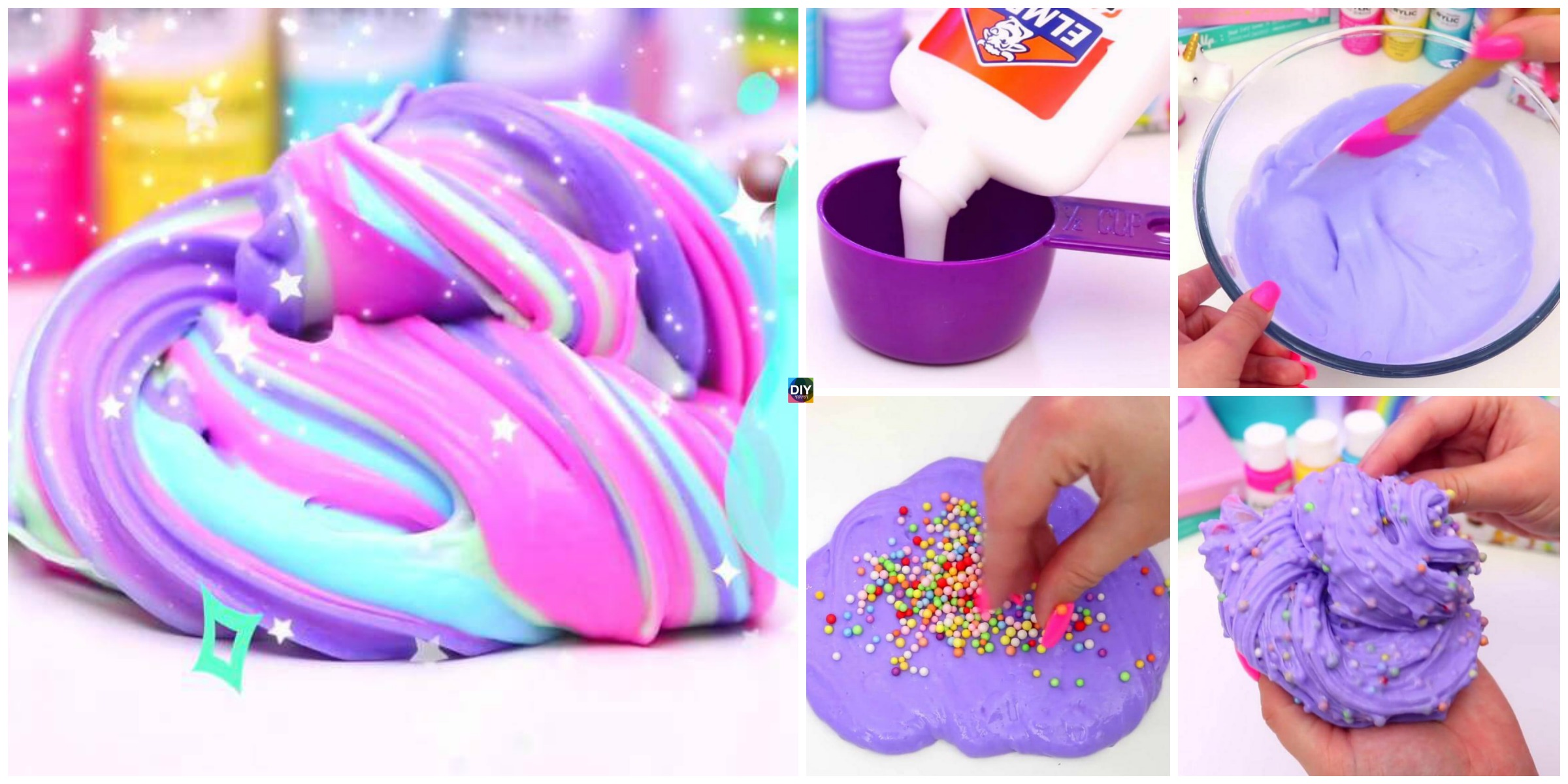 DIY Fluffy Slime Step by Step Tutorial