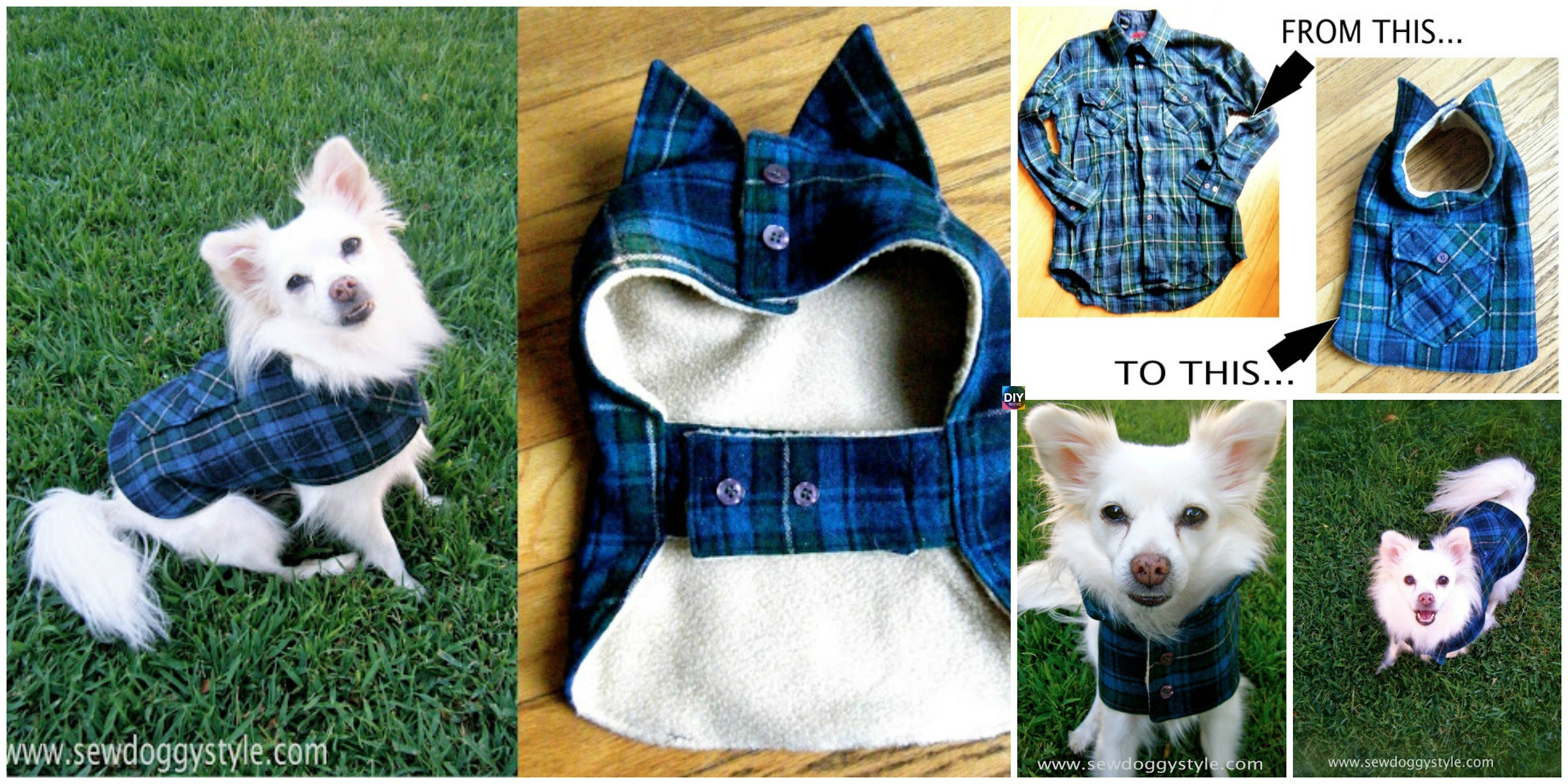 Cute DIY Pet Coat Pattern & Tutorial