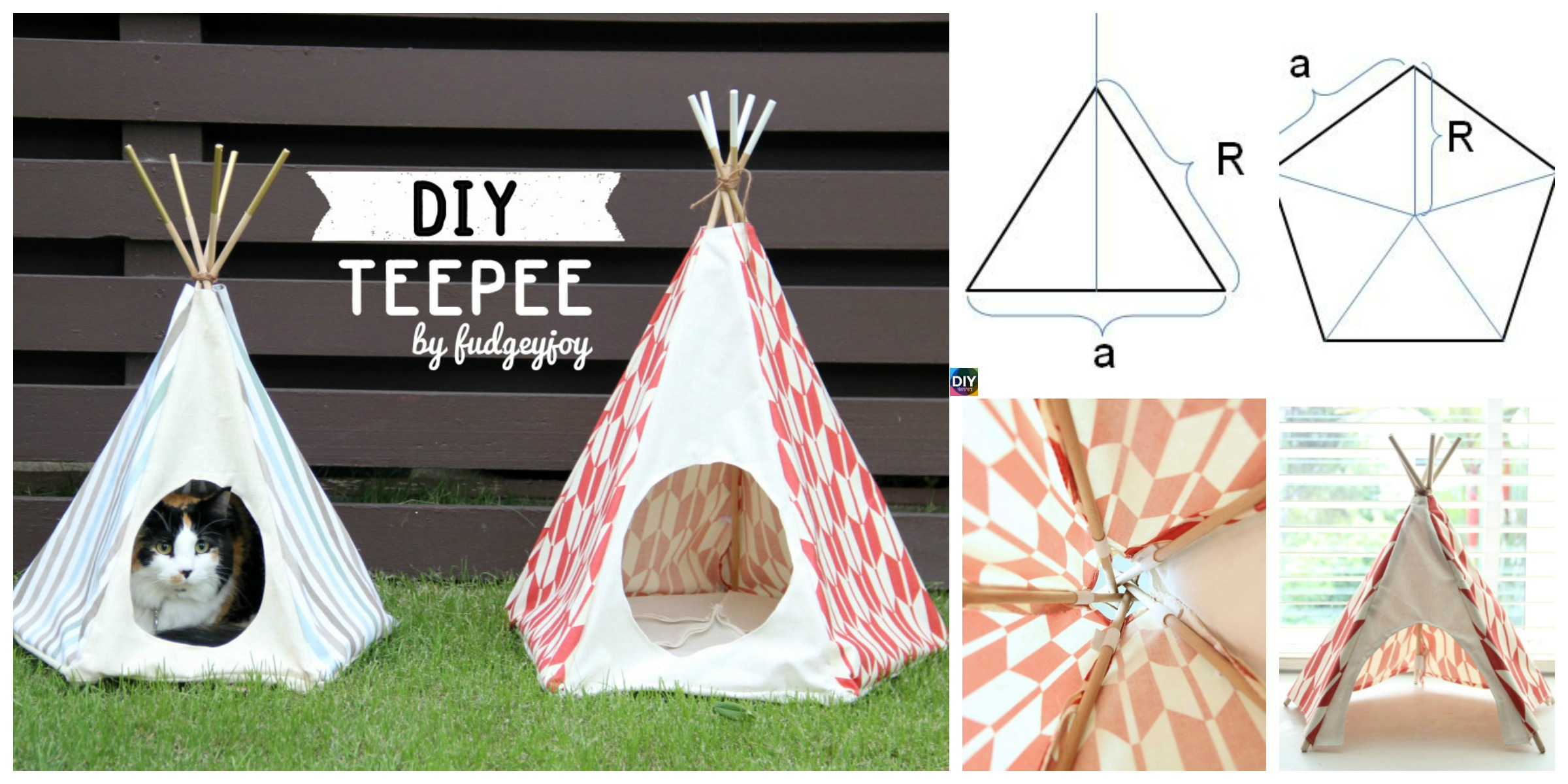 DIY Teepee Tutorial ( with Any Size )