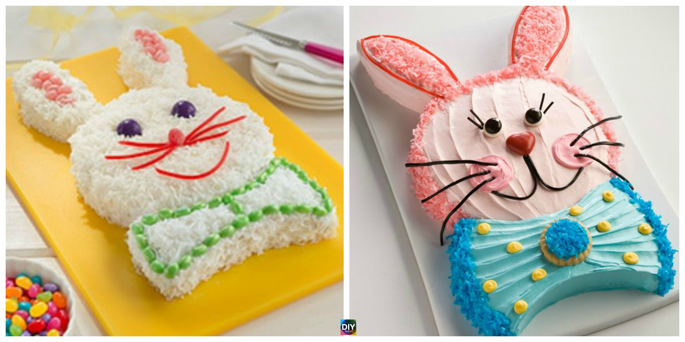 Easy DIY Easter Bunny Cake Tutorial
