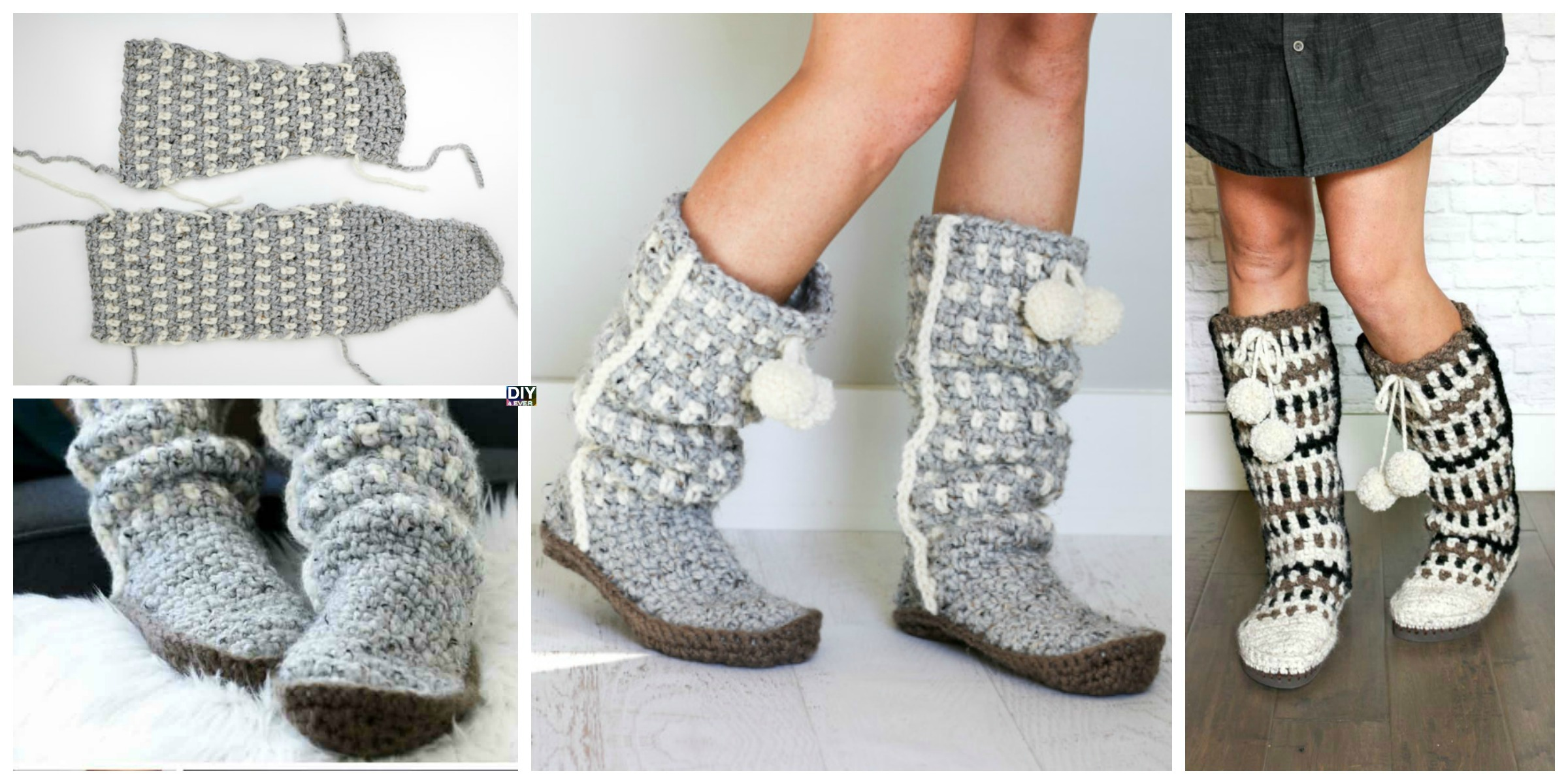 Easy Stylish Crochet Slippers – Free Pattern