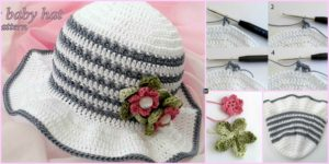 diy4ever- Fancy Crochet Baby Hat - Free Pattern