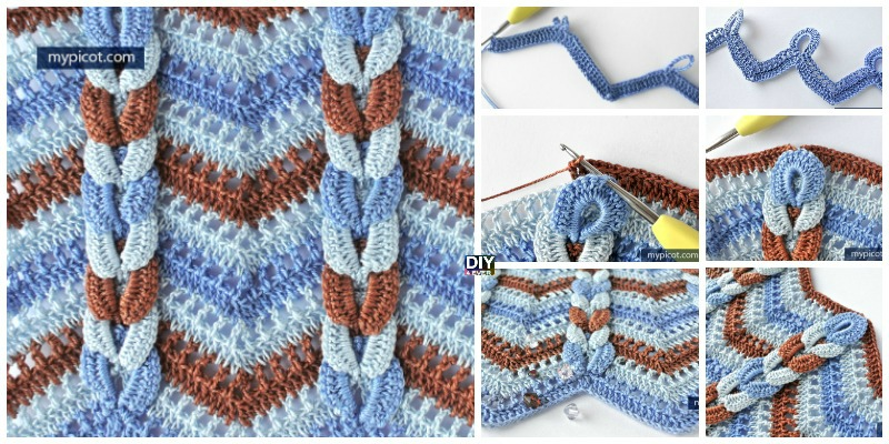 How to Crochet Cable Wave Stitch Tutorial