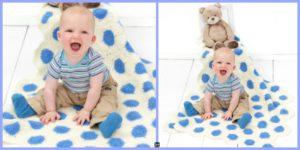 diy4ever-Polka-Dot Crochet Baby Blanket - Free Pattern