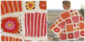 diy4ever- Pretty Crochet Blossom Blanket - Free Pattern