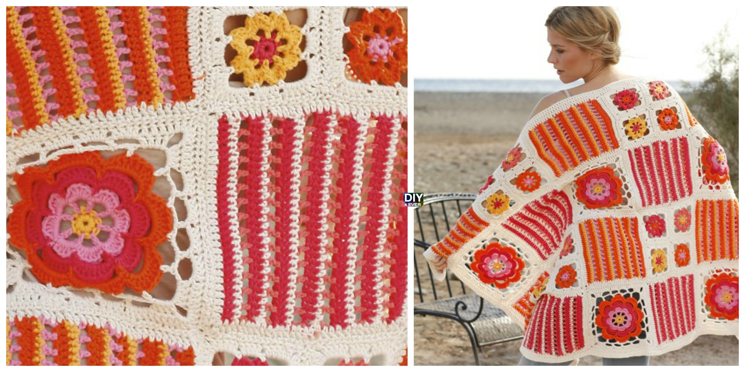 Pretty Crochet Blossom Blanket – Free Pattern