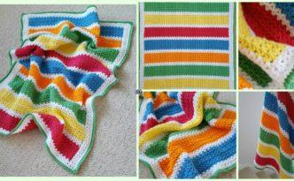 diy4ever- Crochet V-Stitch Baby Blanket - Free Pattern