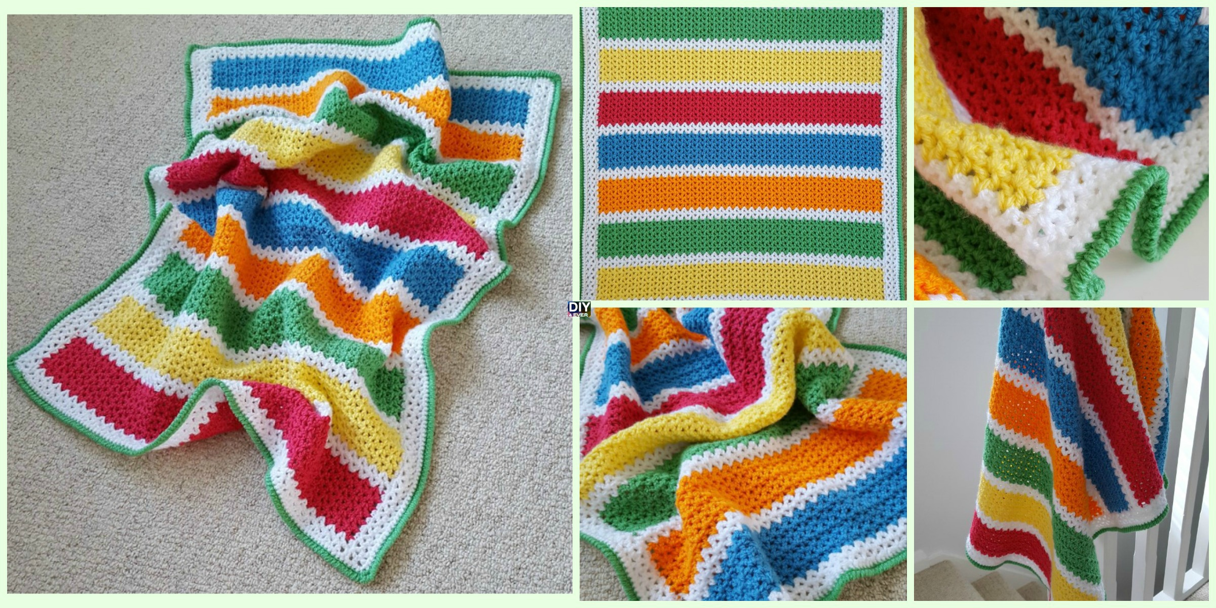 Crochet V Stitch Baby Blanket Free Pattern Diy 4 Ever