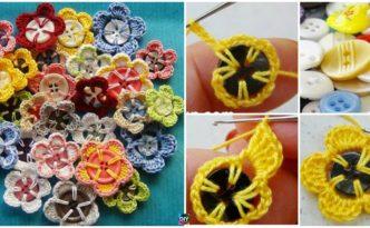 DIY4ever- Crochet Button Flowers - Free Pattern