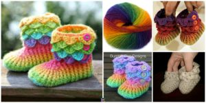 DIY4ever- Crochet Crocodile Stitch Booties -free&paid Patterns & Video