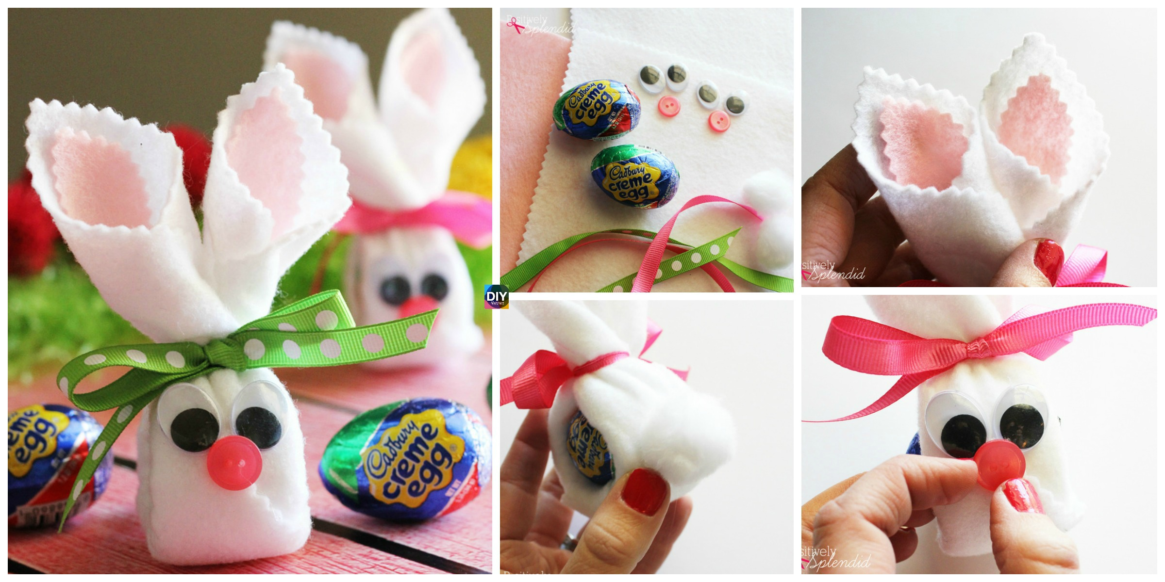 Cute DIY Egg Easter Bunnies Tutorial
