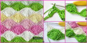 DIY4ever- Long Loop Crochet Shell Stitch - Free Pattern