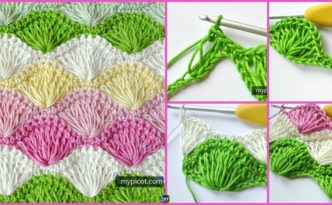 DIY4ever- Long Loop Crochet Shell Stitch - Free Pattern