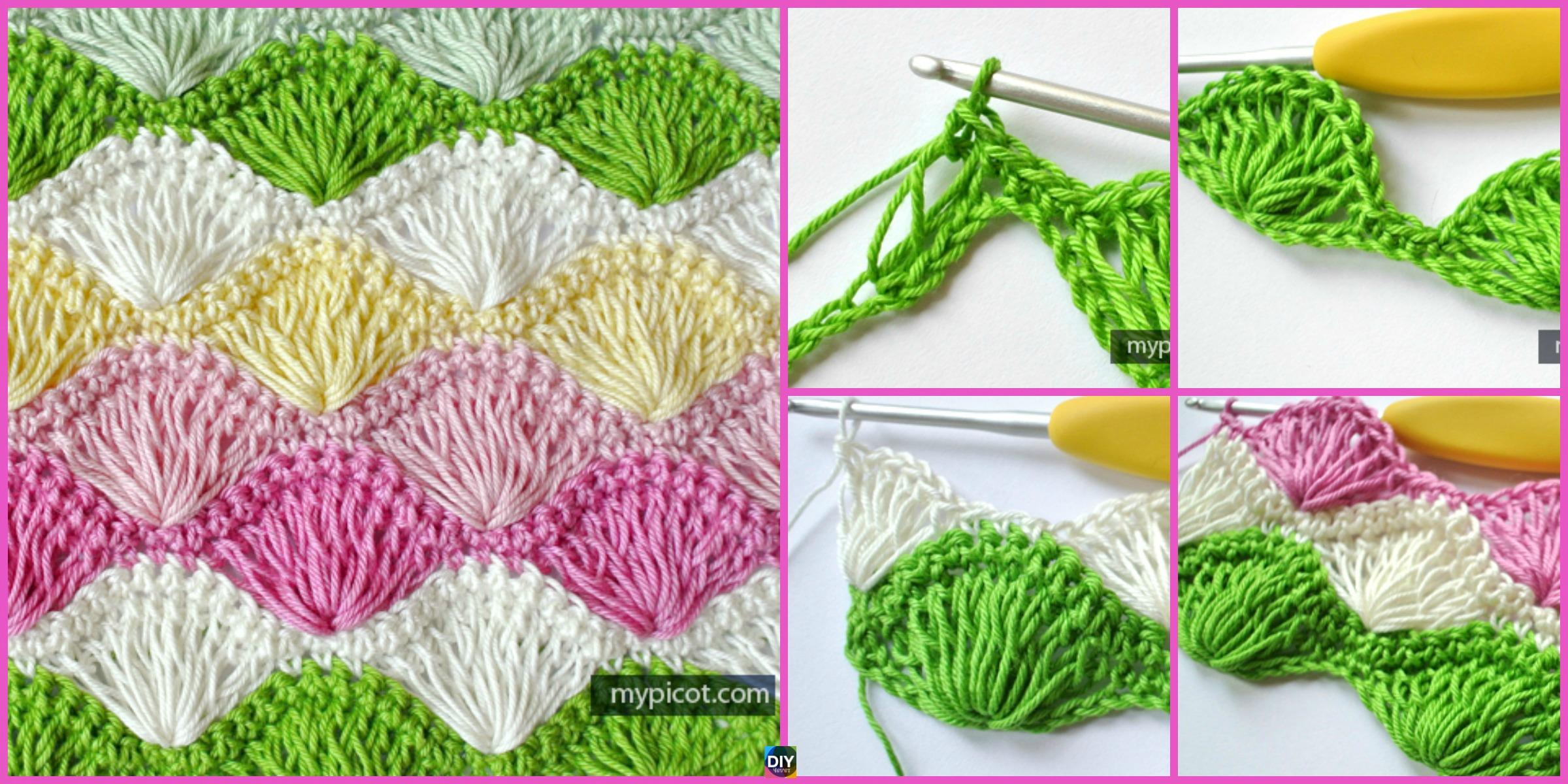 Long Loop Crochet Shell Stitch – Free Pattern