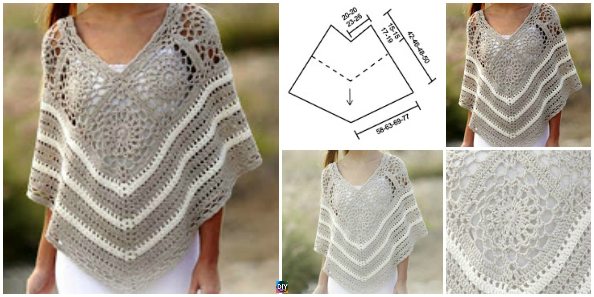 Pretty Crochet Poncho – Free Pattern